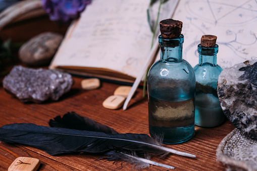 Voodoo protection spell bottle